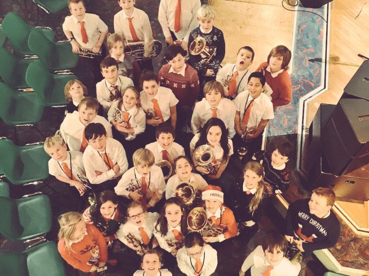 Foundation Brass Band ensemble pic SDH xmas 2015